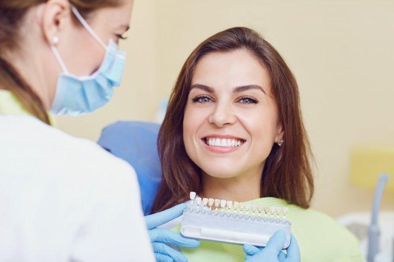 girl smiling at dentist